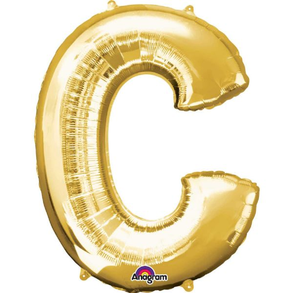 SuperShape Letter C - Gold